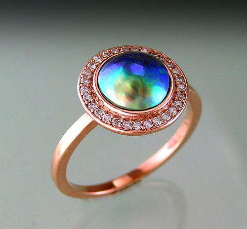 ORBIT - PAUA DIAMOND HALO ring