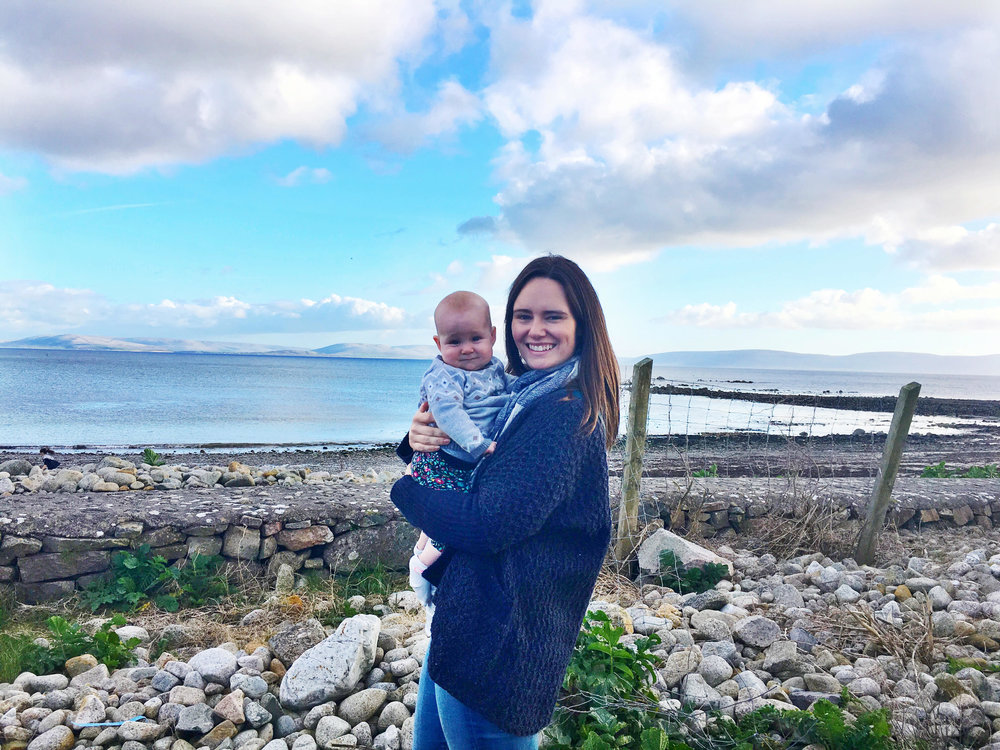 Steph with Madelyn in Ireland this spring