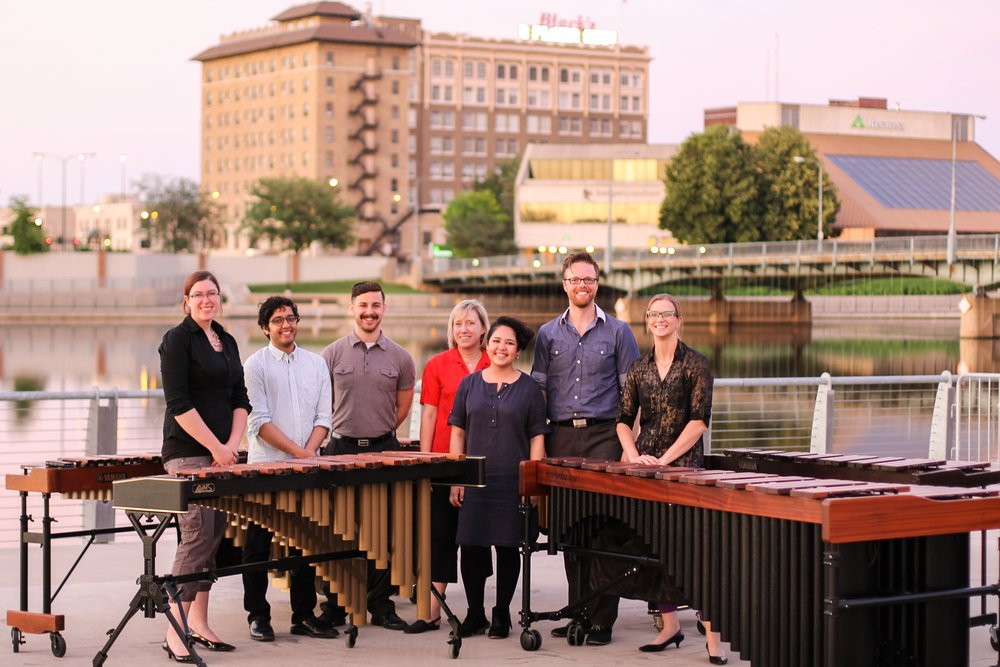HMEnsemble on tour at RiverLoop Amphitheatre, Waterloo, Iowa, 2015.