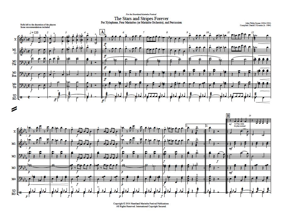The Stars and Stripes Forever — Heartland Marimba