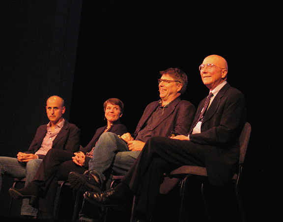 The World Without Ice collaborators in a panel discussion as Artists In Residence at Michigan Technical University.
