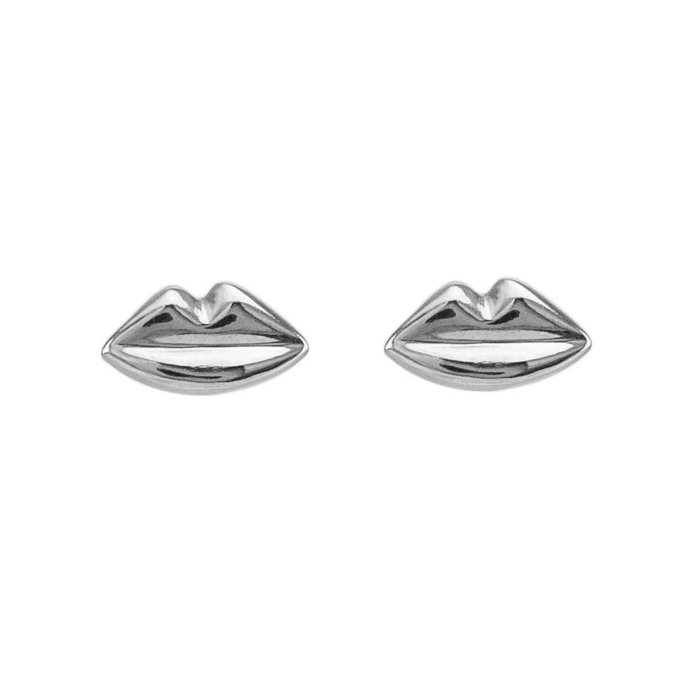 Earrings small Silver Kisses
