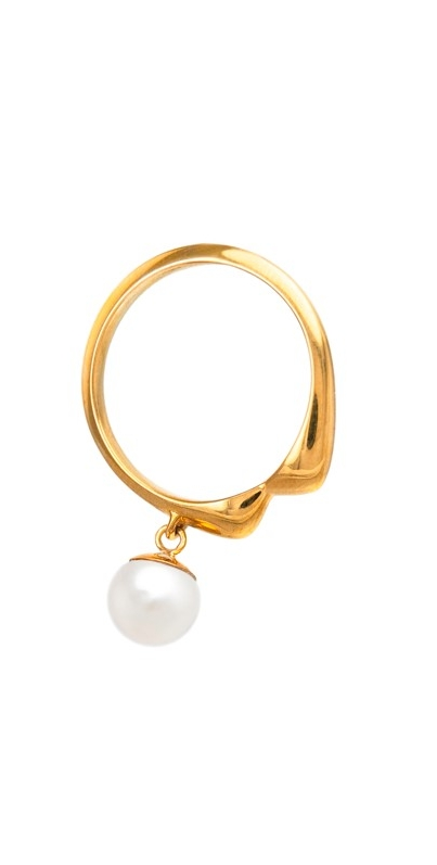 Gold Ring Whisper With Pearl