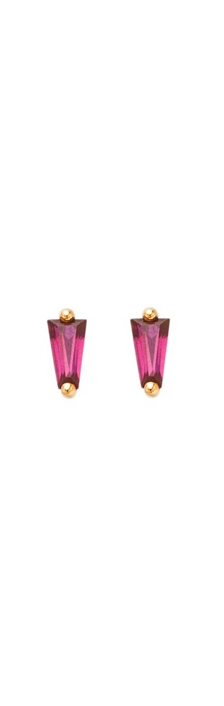 Gold Earrings Amore With Rubies