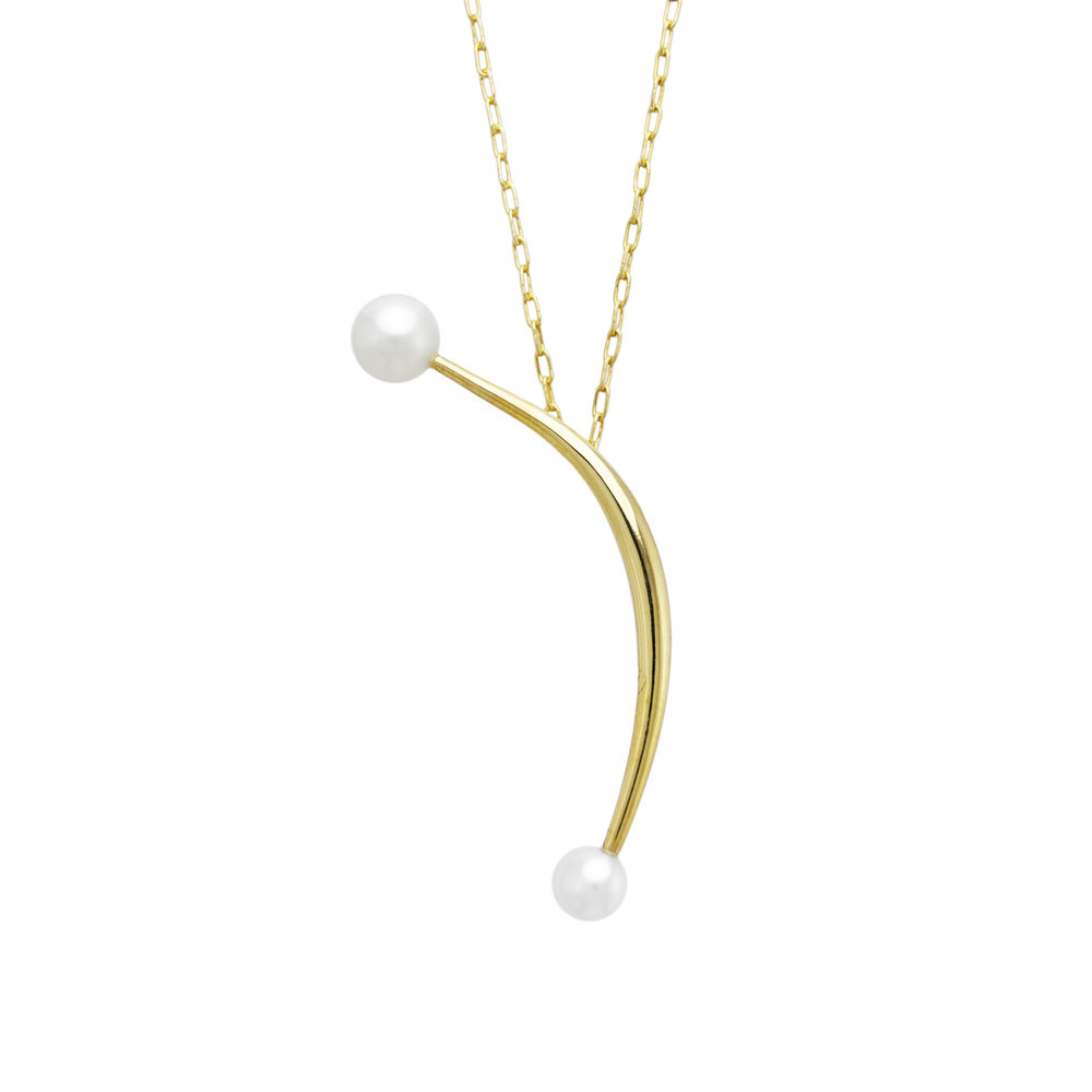 Gold Necklace Tete-A-Tete With Pearls