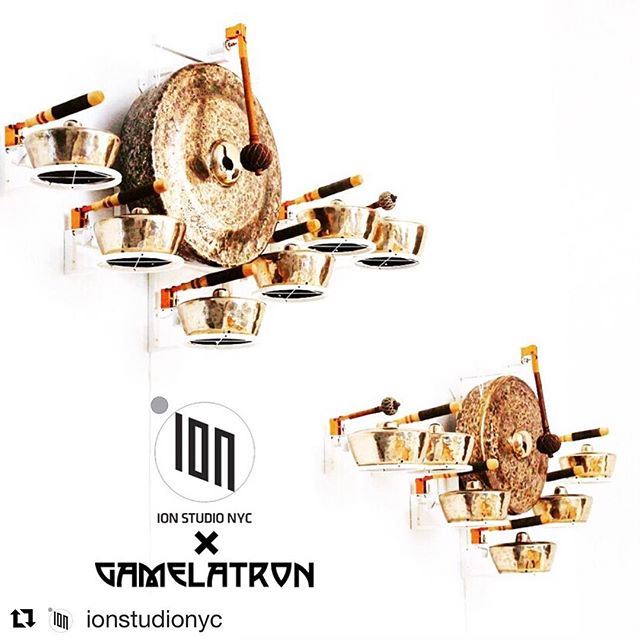#Repost @ionstudionyc  @gamelatron at ION 👀✨💫 #nextlevel More details to come! #gamelatron • • • • • • • • • #ionstudionyc #artinstallation #gamelan #indonesian #meditation #kenetic #sanctuary #soundart #aarontaylorkuffner #artist #composer #nycart #robotic #sculpture
