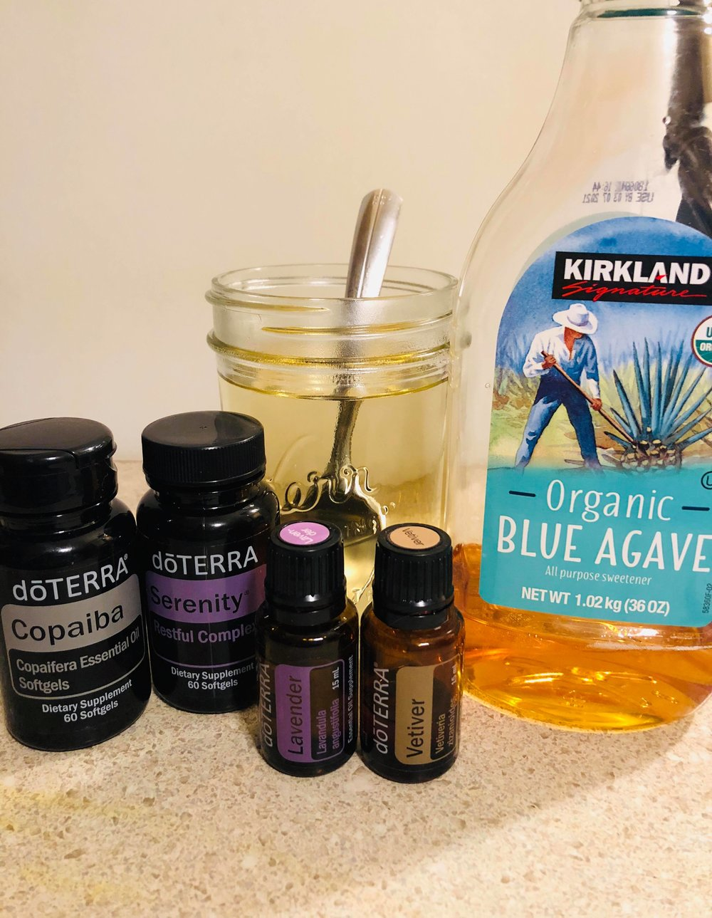 Sleep Like a Baby Tea - Try this combo 30-40 minutes before bed and see if you don't sleep like a baby.1 to 2 Copaiba Gel Caps1-to 2 Serenity Gel CapsMake a Tea of Warm water and honey. Add about 1 toothpick worth of lavender and vetiver. (I dip my toothpick in the bottle then stir into the warm water).Sip and Enjoy!!