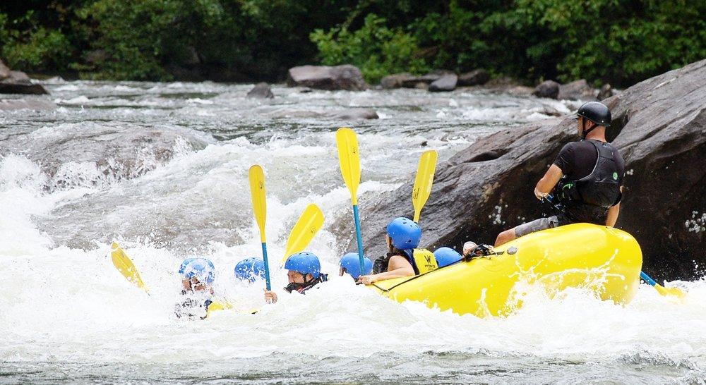 Raft and Zipline ZOAR -