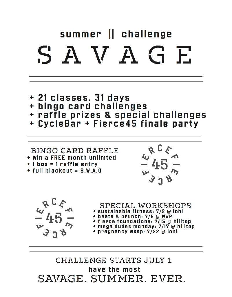 Summer Savage Challenge