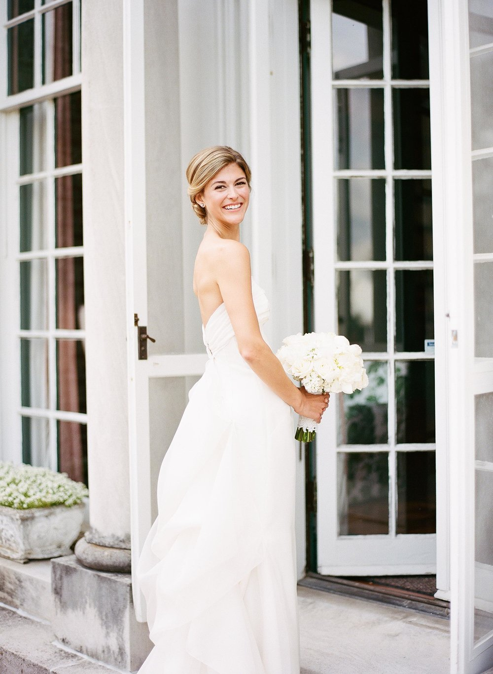 Mary Beth + Nick    Oxmoor Estate, Kentucky   The moment we unzipped the Jin Wang bridal gown bag we knew this wedding was going to be special.  People traveling to Kentucky from afar to celebrate with this beautiful couple.  Oxmoor Estates pristine acres of garden provided the perfect venue for Lauren Chitwood's team to set the stage for this beautiful wedding!  A palette of whites and soft blushes let everyones emotion shine brightly on this special day  To see more of this wedding  Click Here