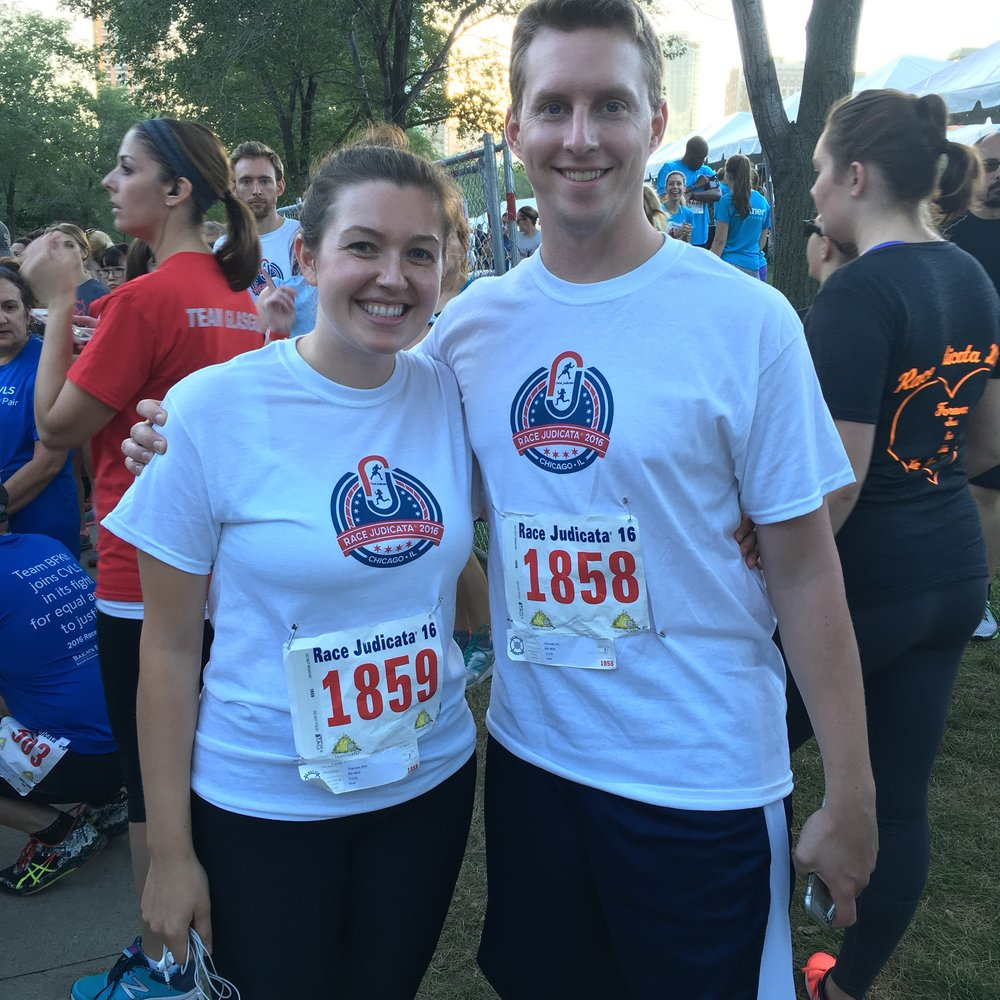My husband, Eddie, and I at Race Judicata 2017 in Chicago