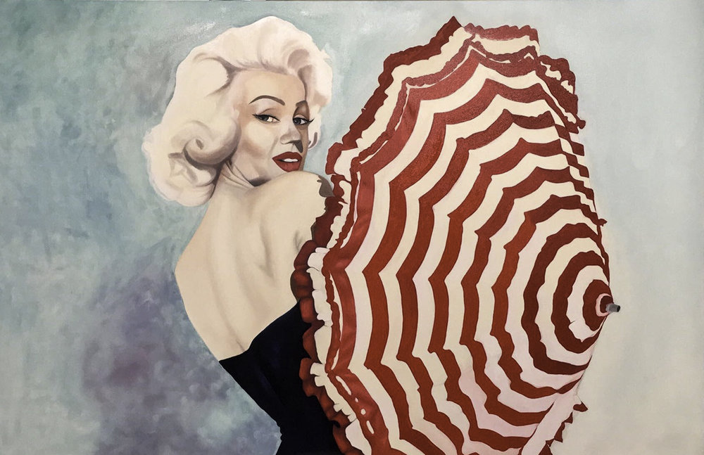 MISS MONROE 50X70 OIL ON CANVAS COMMISSION