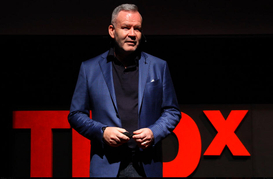 Tom Watson give talk at TEDxChilliwack in 2016.
