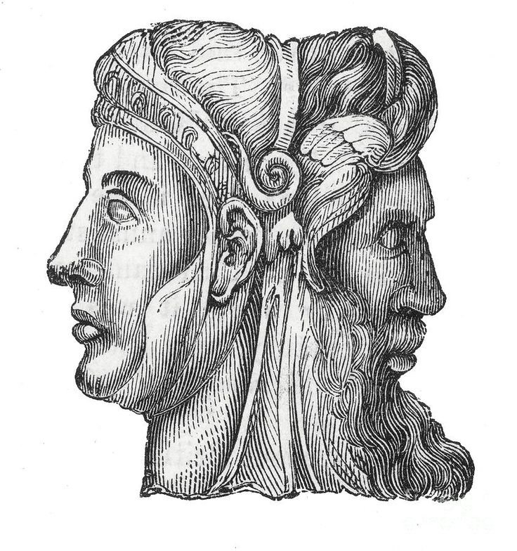 Roman god Janus, who marks all beginnings and transitions