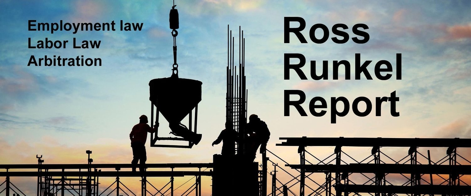 Ross Runkel Report