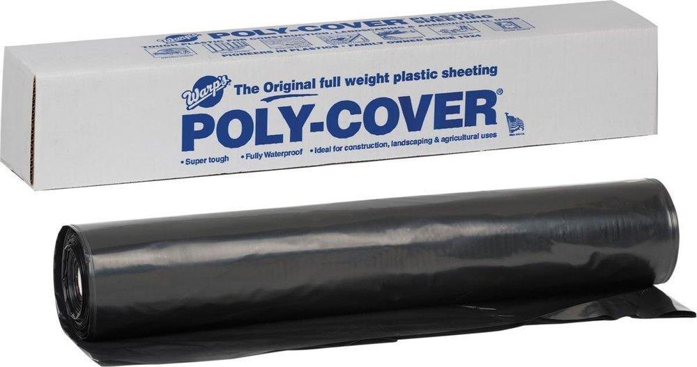 4 Mil Black Plastic Cover