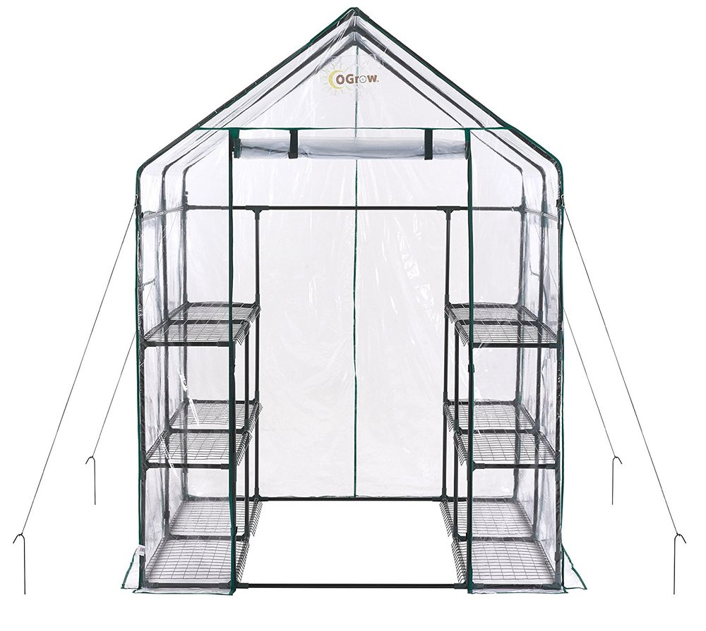 Ogrow Deluxe Walk-in Greenhouse