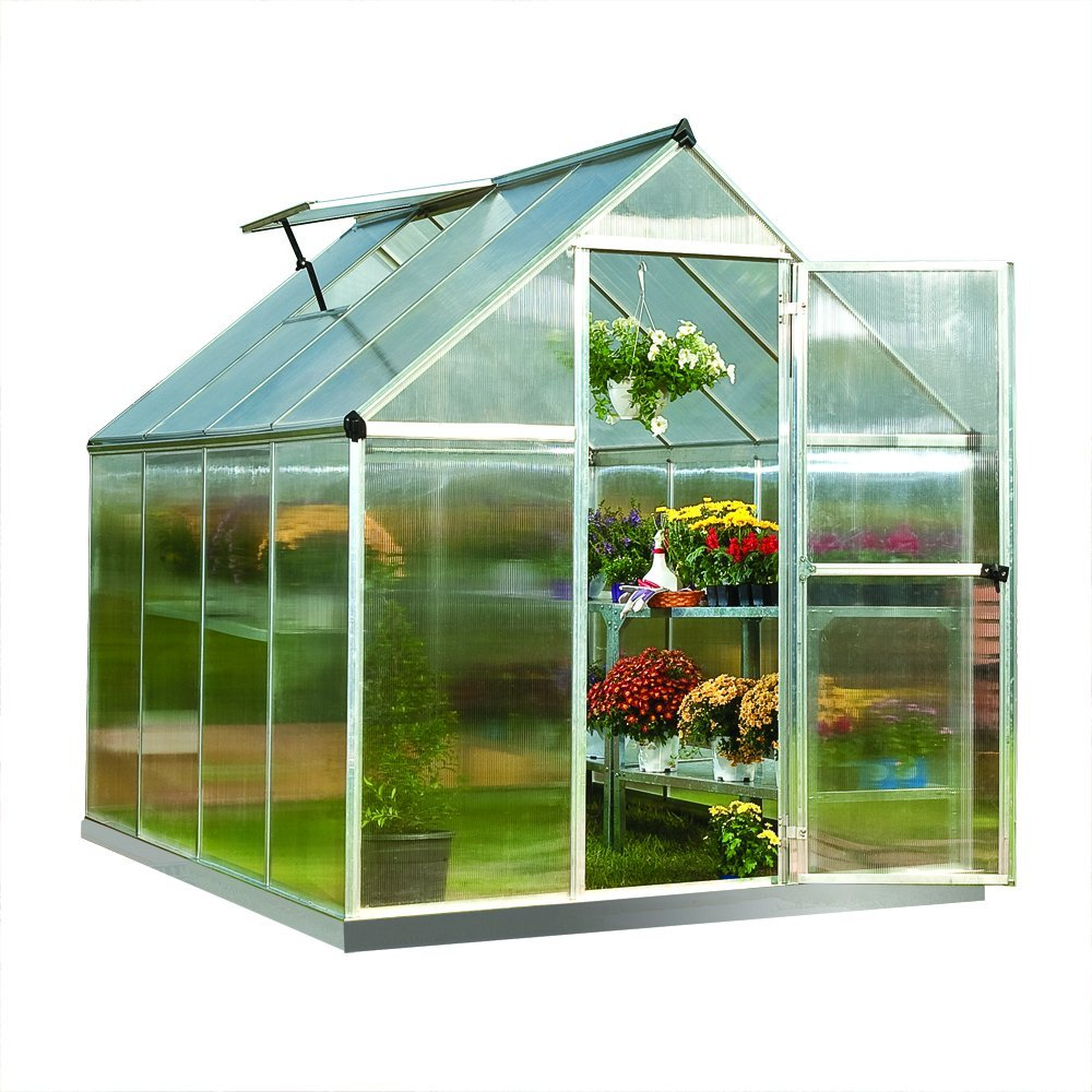 small hardshell greenhouse
