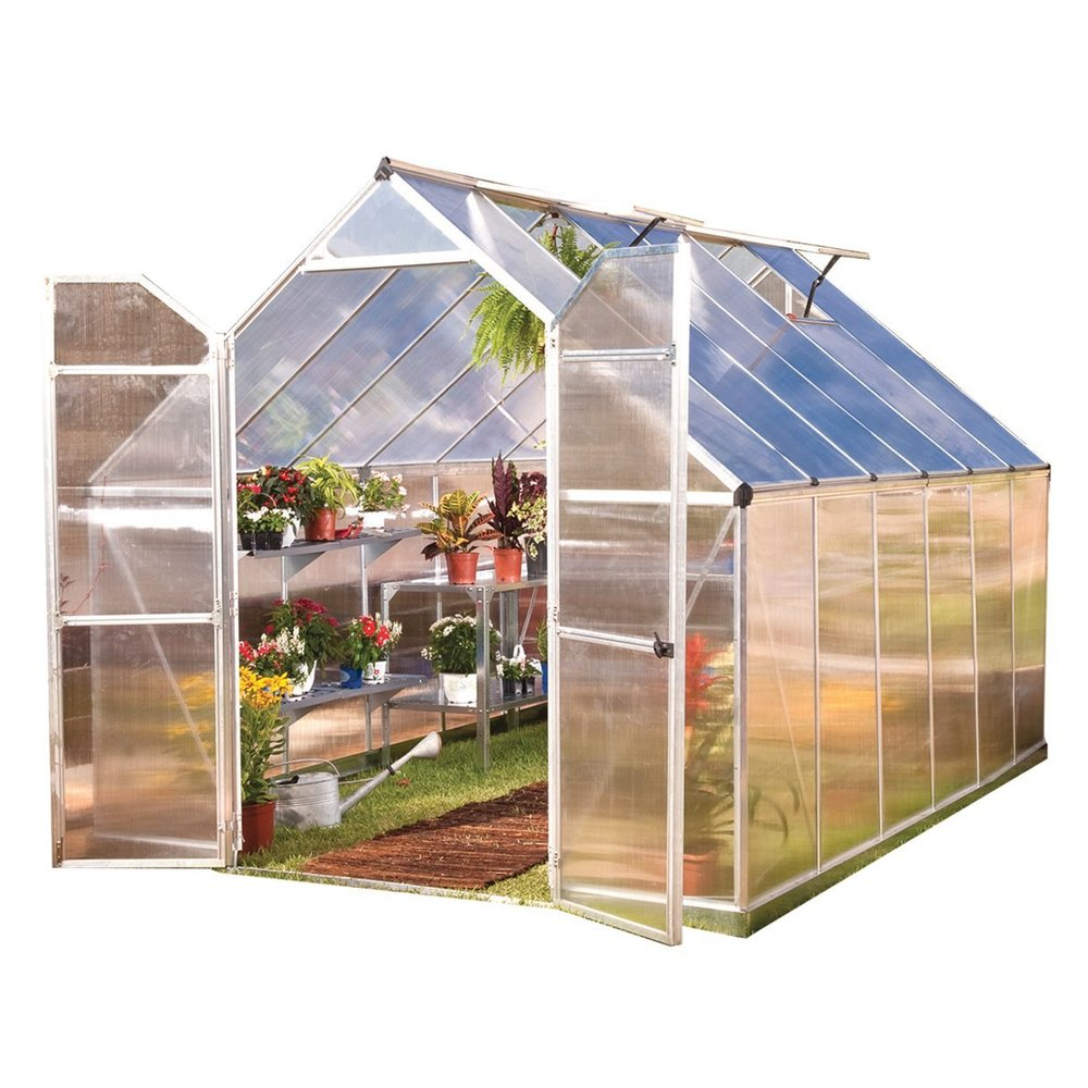 large hardshell greenhouse