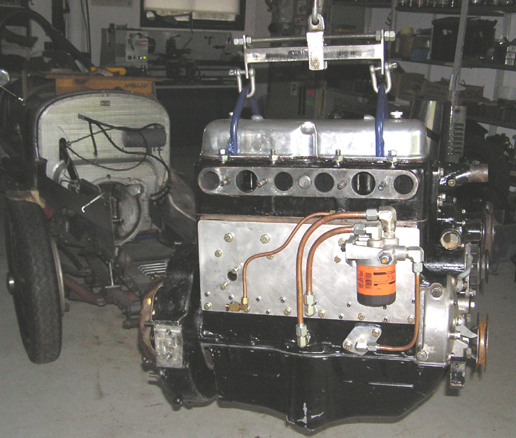 The Engine showing OH head and lubrication system
