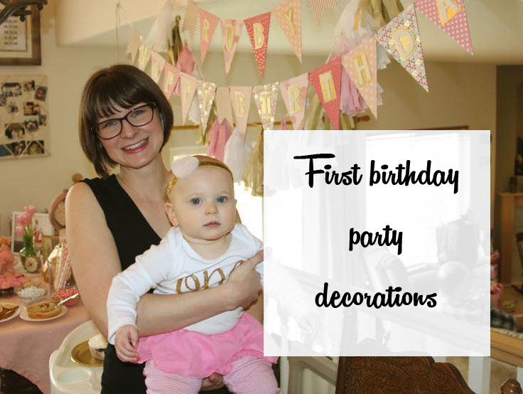 Pink And Gold Party Decorations For My Baby Girls First Birthday