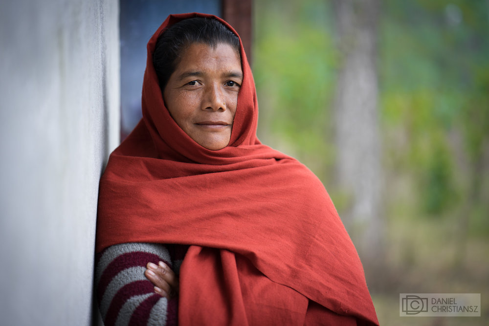 Nepal Woman in Traditional Dress