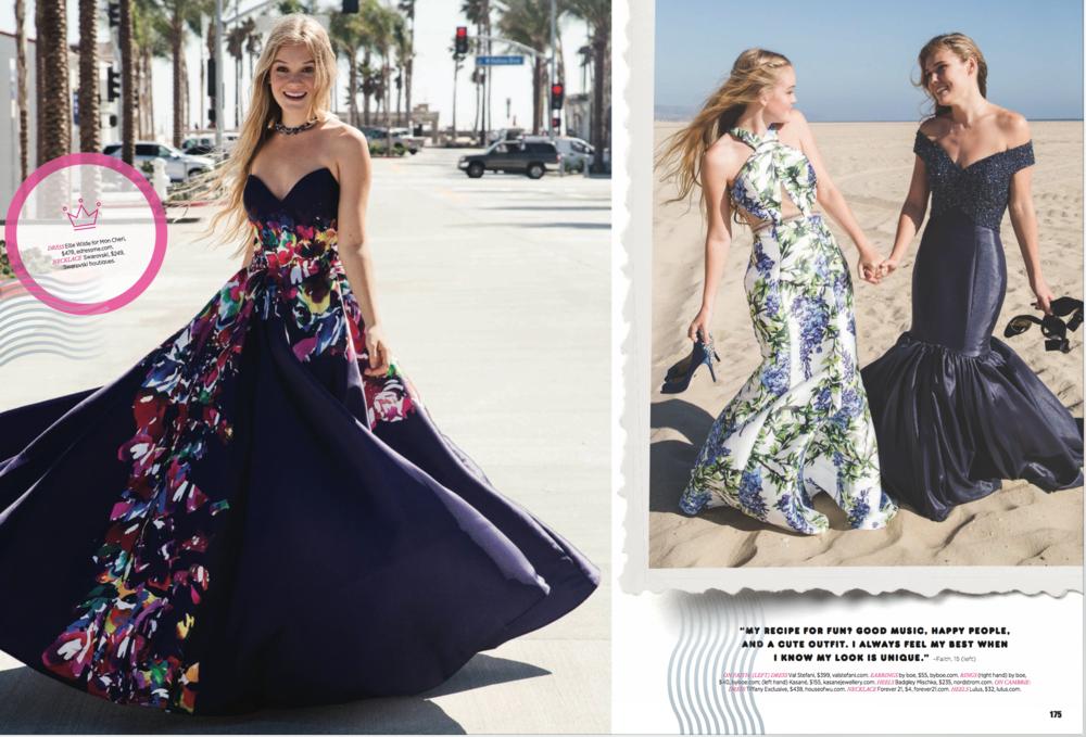 Seventeen Magazine Prom spread.