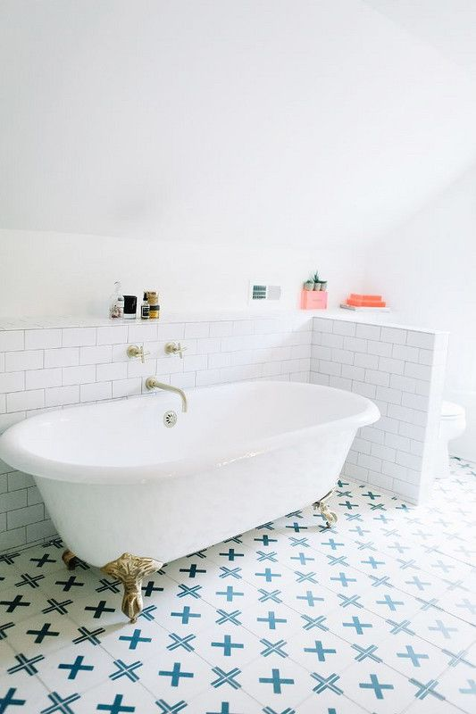 Add some fun with tiles that stand out and make the room fun and inviting.