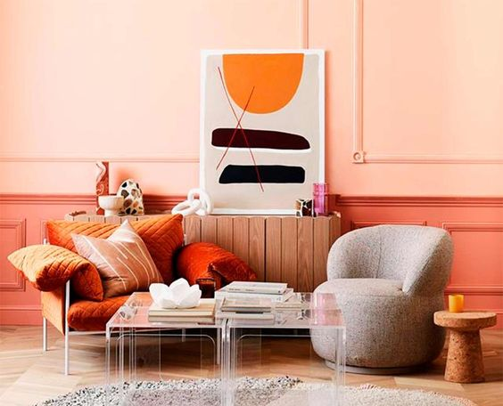 Pantone colour of the year 'Living Coral'.