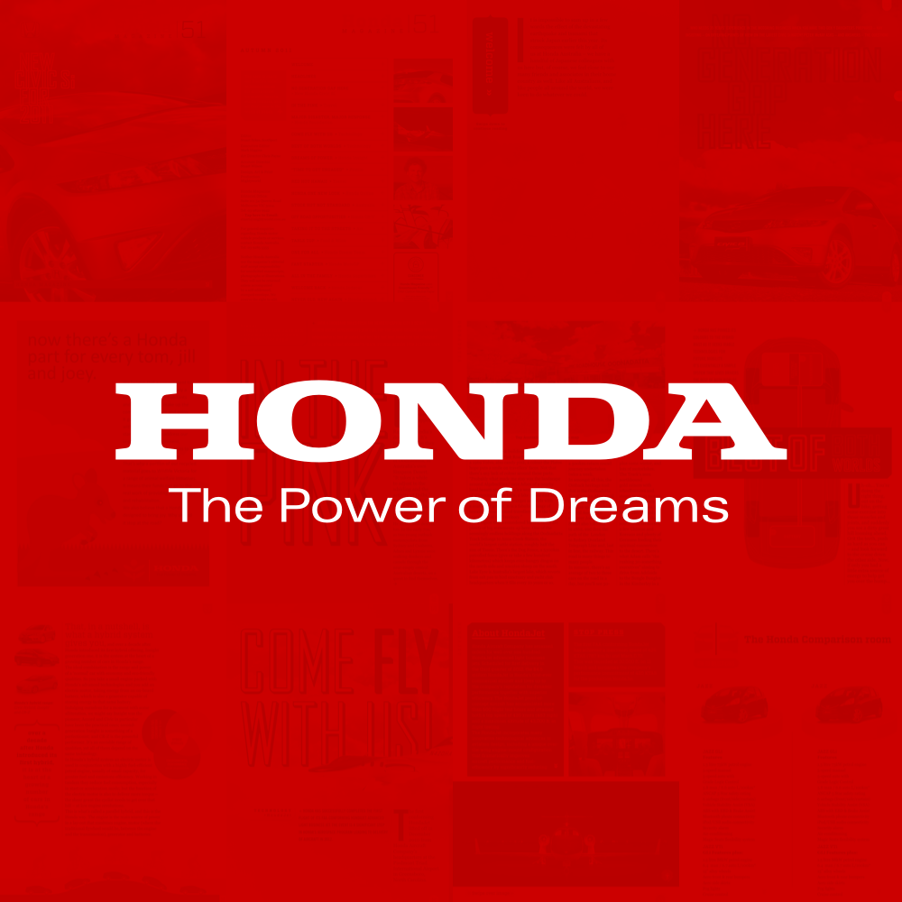 Honda: Interactive Magazine  User interface design and layout for the digital Honda magazine
