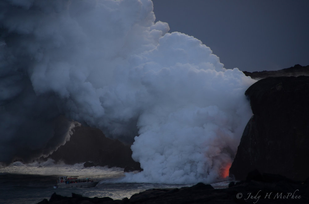 Kamokuna ocean entry lava flow on January 20, 2017