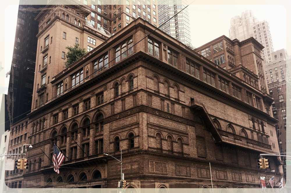 Carnegie Hall in the Summer of 2017