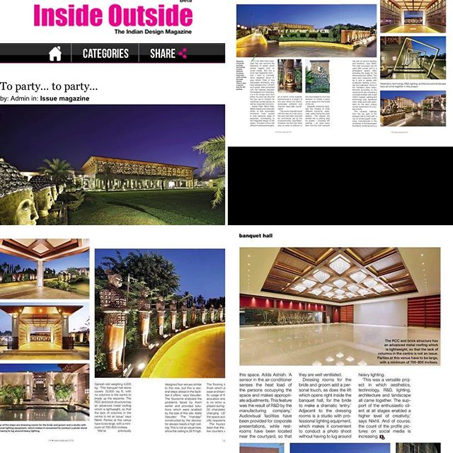 Proud & Excited to announce that THE GRAND CHETAK was recently published in the INSIDE OUTSIDE magazine apr 2016 issue.