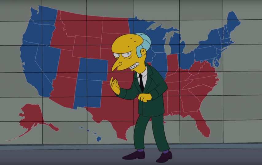 4 Of The Most Viral Election Memes Debunked Ryan King - Simpons Us Map Vs Real Voters Map