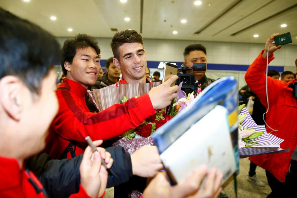 Oscar, a £30million signing from Chelsea, is the third Brazilian to arrive at Shanghai SIPG and the fourth foreigner overall.