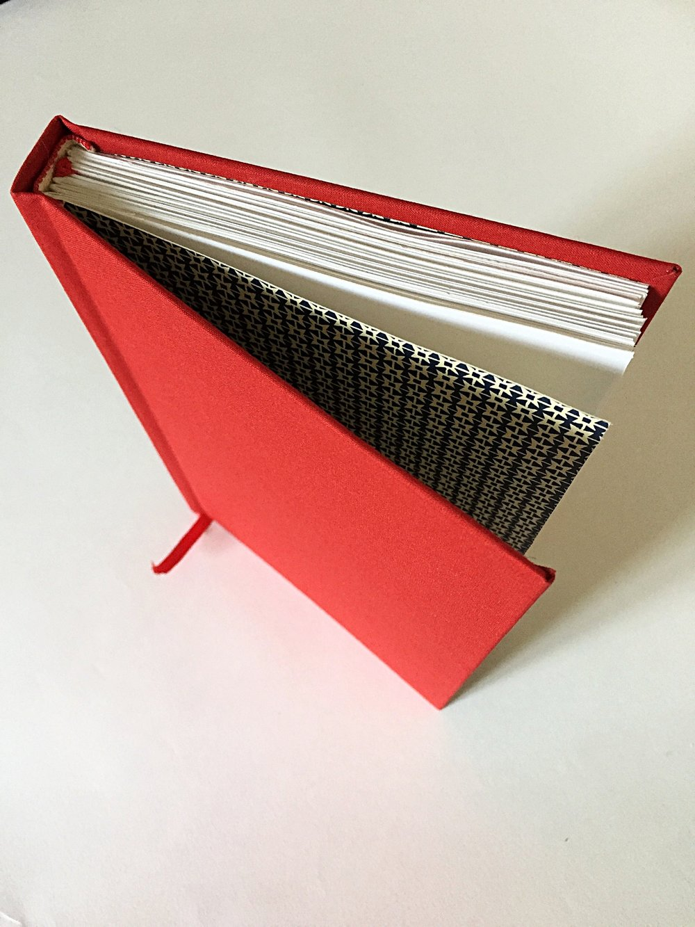 Hard-backed Multi-section book squared spine