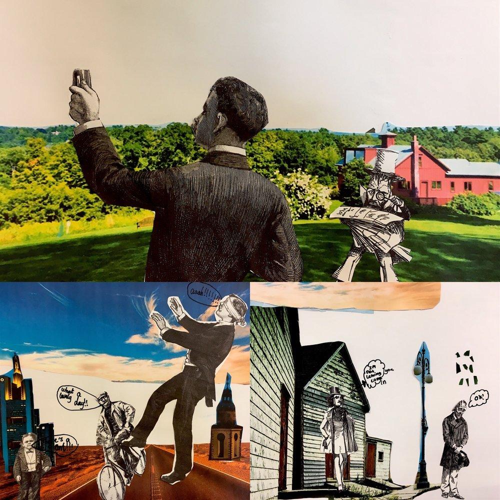 Collage inspired by Dadaist work