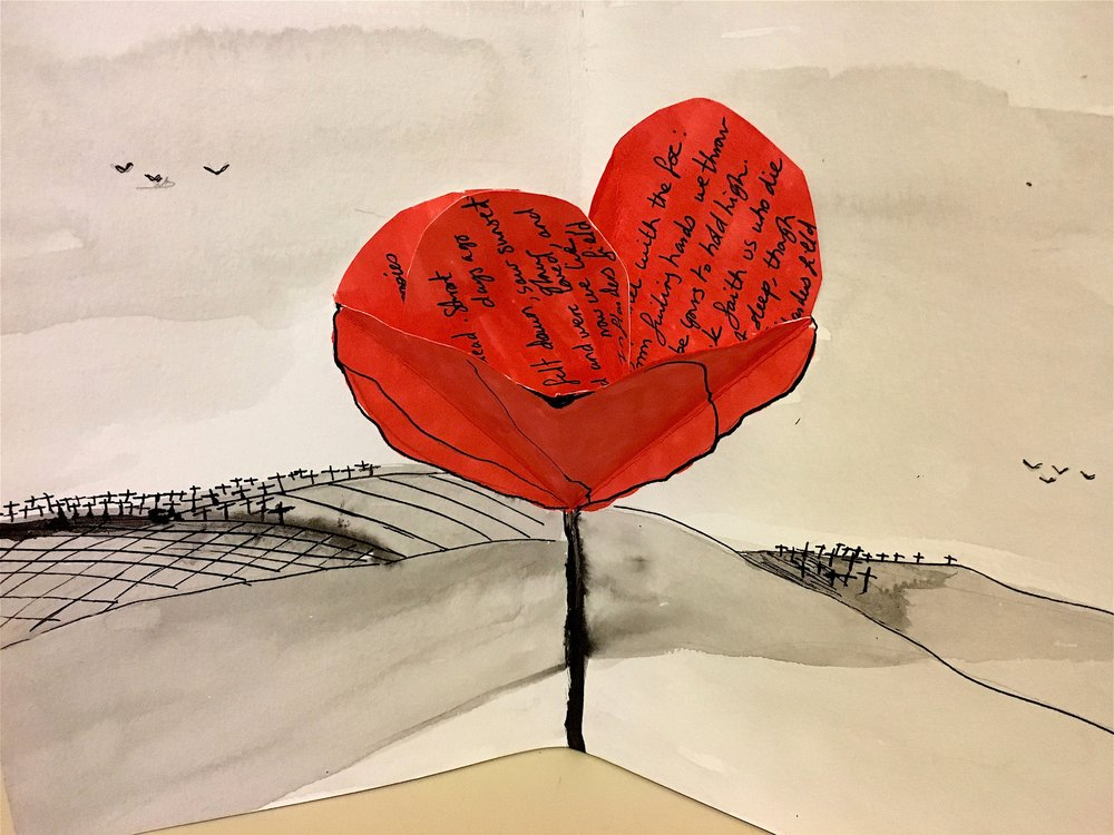 Pop Up Illustration - Remembrance Day