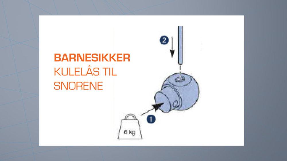Copy of Kulelås til Liftgardin-skinne LUX
