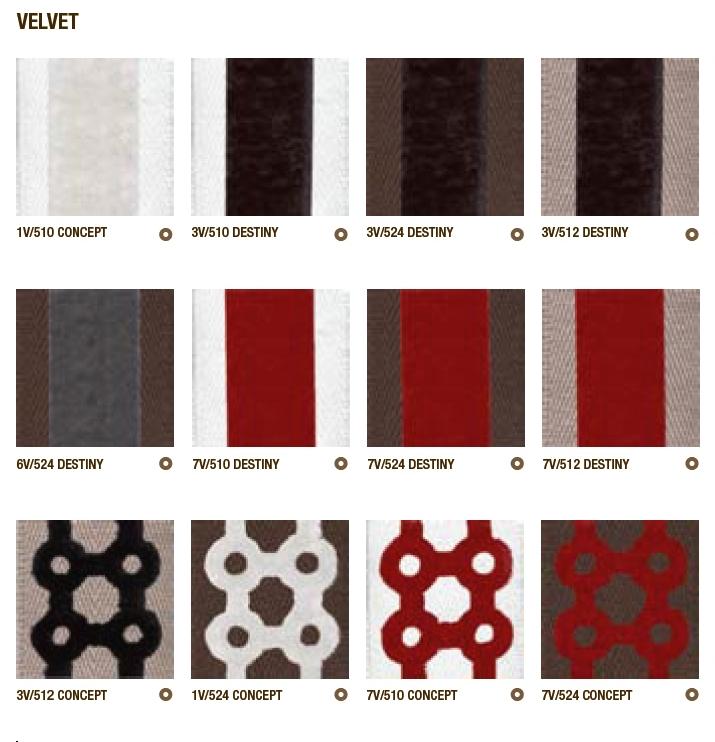 Design stigebånd - Serie Velvet