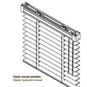 Standard snorbetjening - Standard snorbetjening, begge snorene i samme side. Ved mindre enn 60cm bredde blir det en snor i hver side.