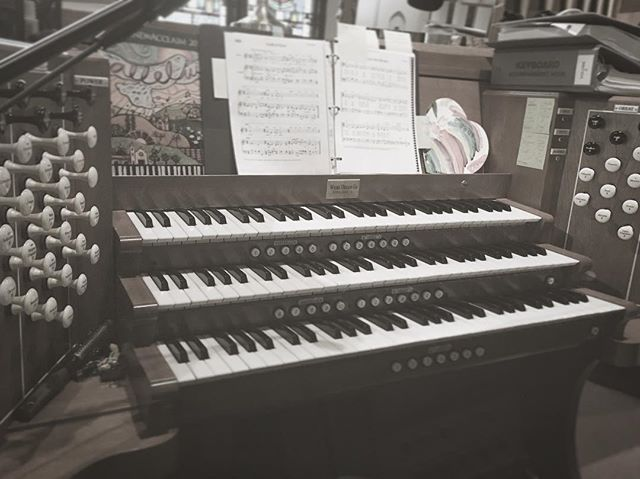 Triple manual kinda day. #organ #dayjob #learning