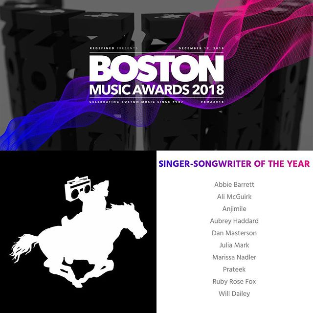 WOW. Psyched to be nominated alongside so many friends at the @bostonmusicawards and grateful to the entire committee for the recognition! Voting is now open to the public. 🎶 Visit DanMastersonMusic.com/vote 🎶