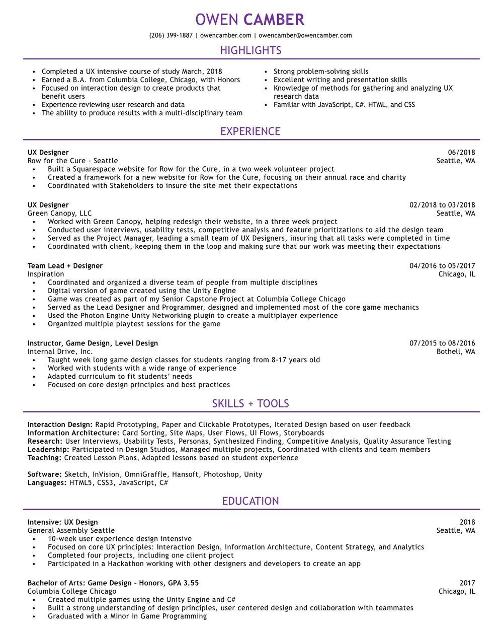 Resume PDF Download
