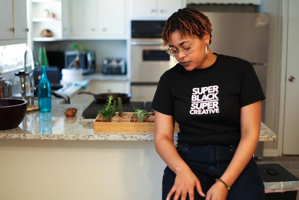 Shai Dawnn by Black Men Smile® creator Carlton Mackey as they prepare for shoot.