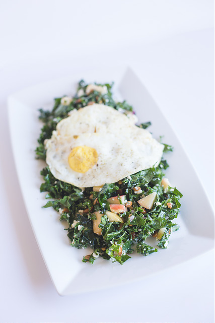 Kale Salad with Fried Egg
