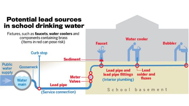 Potential lead sources in school drinking water.