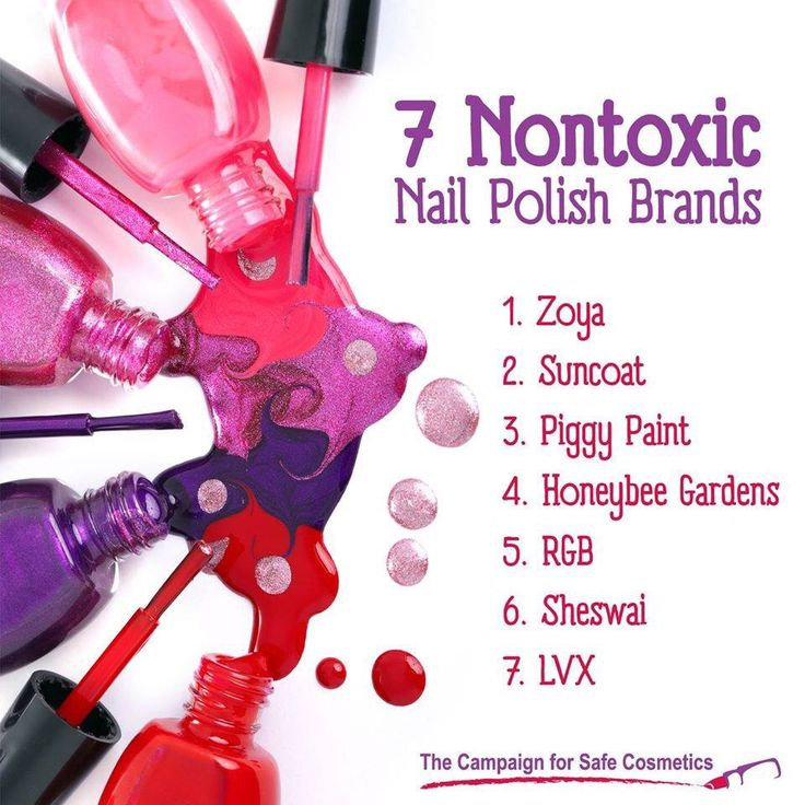 Nail polish toxins are absorbed into the skin and can cause cancer, respiratory ailments, and birth defects.  Toxic free nail polish is a safer alternative.