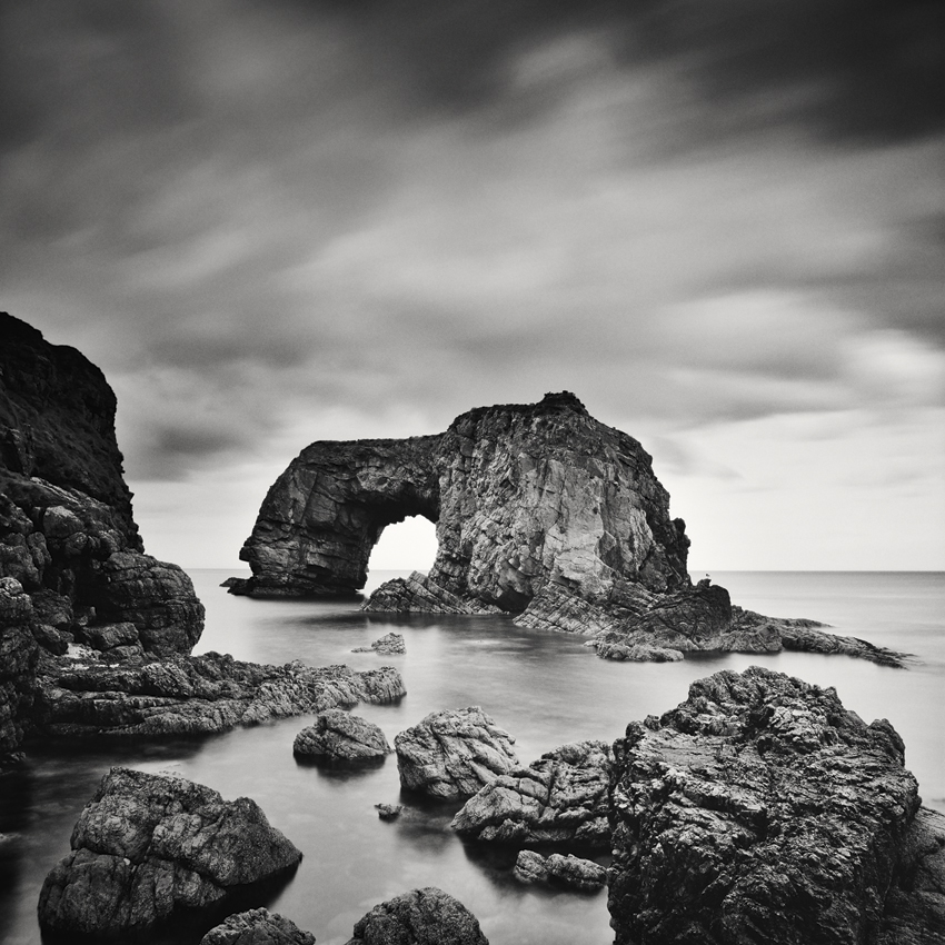 "Great Pollet Sea Arch, Ireland 2014 - Limited Edition Gelatin Silver Print No.: 11706  40 x 40cm (15.8 x 15.8"") ,  Edition of 9 60 x 60cm (23.6 x 23.6"") ,  Edition of 9 80 x 80cm (31.5 x 31.5"") ,  Edition of 7 100 x 100cm (39.4 x 39.4"") ,  Edition of 5"