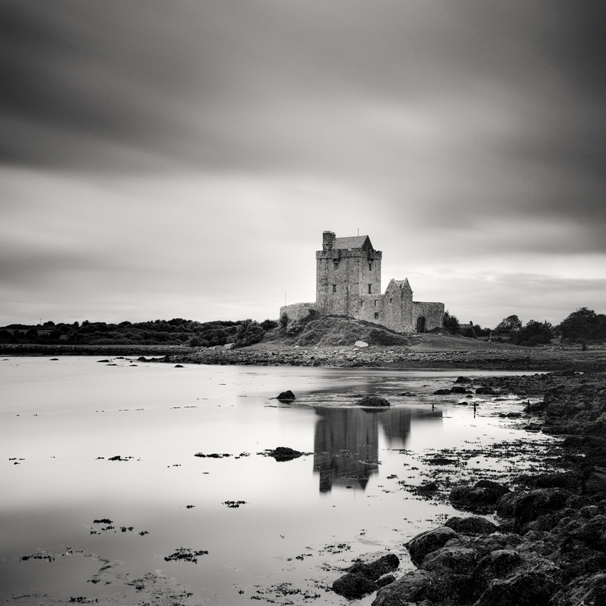 "Dunguaire Castle Study #1, Ireland 2014 - Limited Edition Gelatin Silver Print No.: 11715  40 x 40cm (15.8 x 15.8"") ,  Edition of 9 60 x 60cm (23.6 x 23.6"") ,  Edition of 9 80 x 80cm (31.5 x 31.5"") ,  Edition of 7 100 x 100cm (39.4 x 39.4"") ,  Edition of 5"